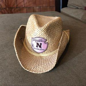 Rackhat Headwear NE Huskers straw cowboy hat